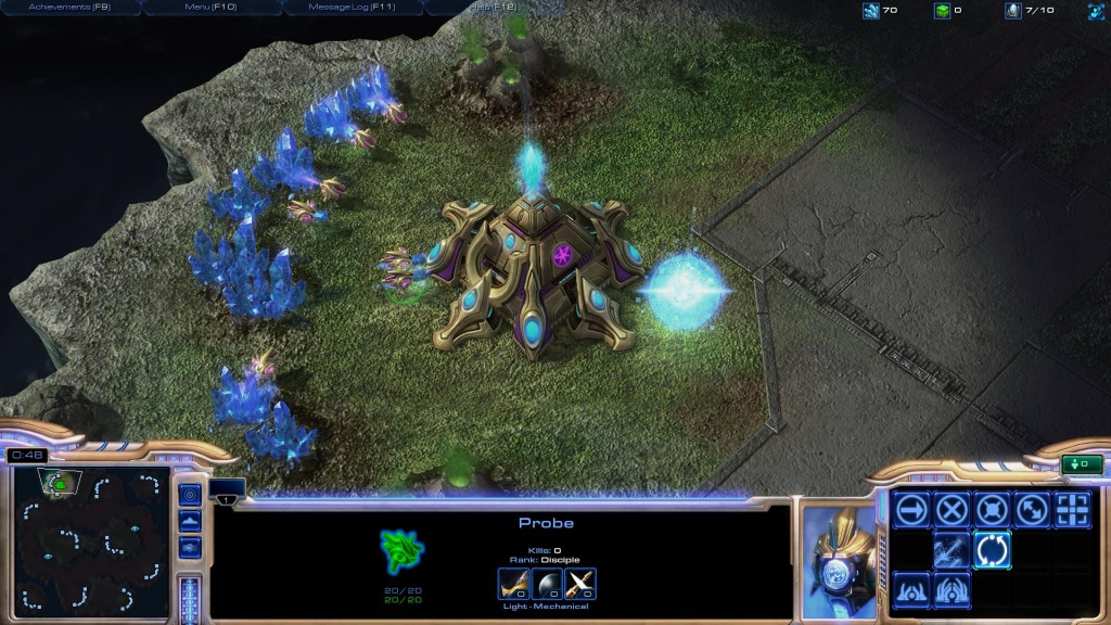Playing Starcraft II on Extreme and Ultra Graphics Settings on my PC Gaming Build