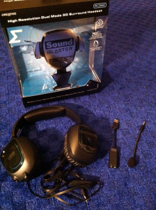 Creative Sound Blaster Tactic 3D Sigma in Front of Box