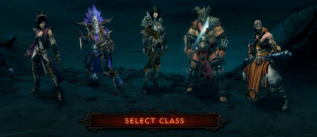 Selecting a character in Diablo III