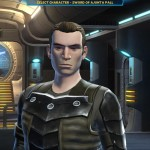 The character profile page for SWTOR