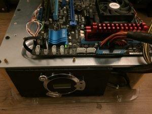 Kodi Box PC Build on a DIY PC Test Bench Top View