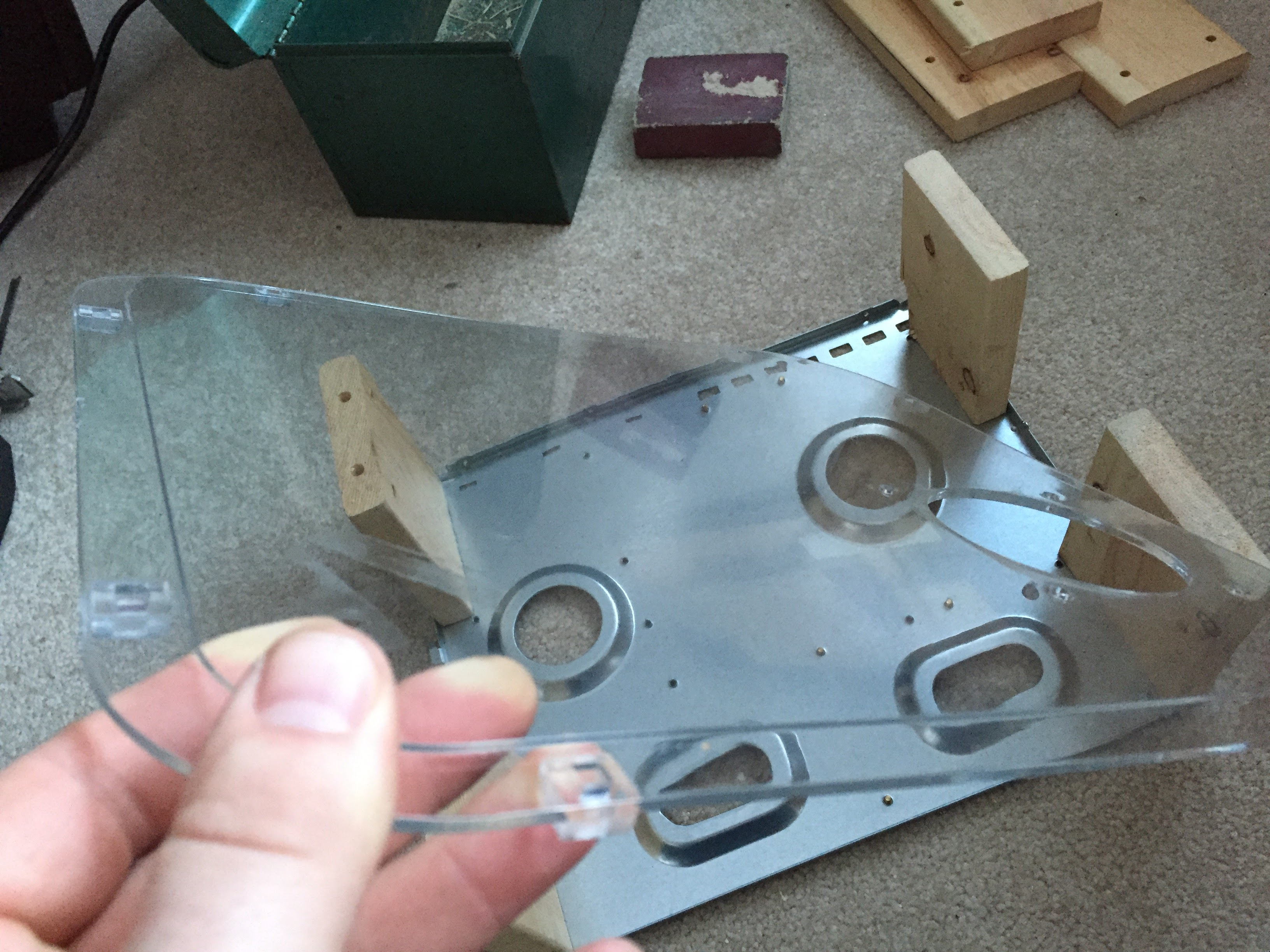 Plexiglass used for the DIY PC Test Bench Bottom