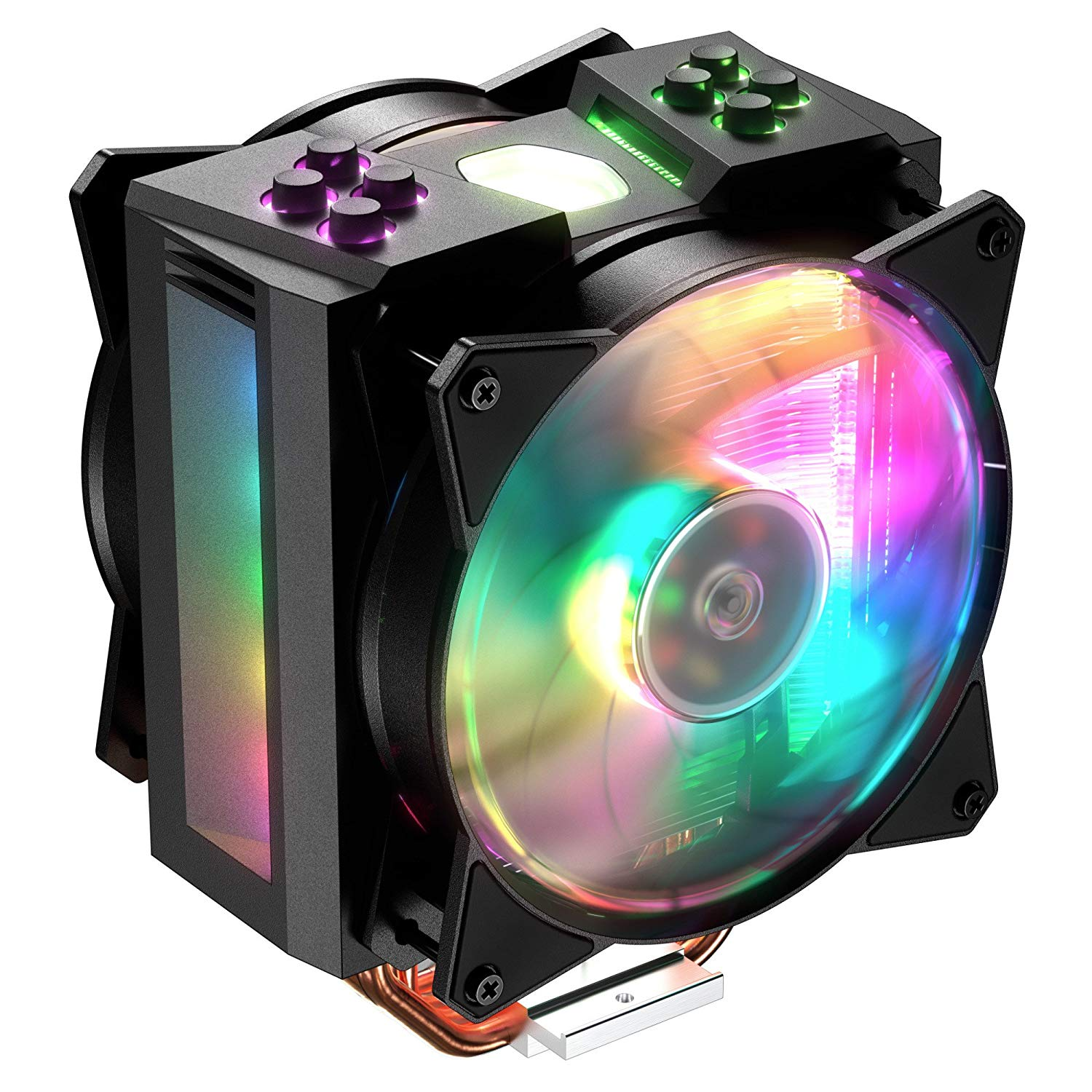 2 Cooler - Cooler Master MasterAir MA410M 28 Addressable RGB LED Lighting CPU Air Cooler - Best $1000 PC Build 2019