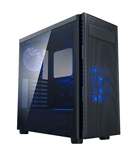 8 PC Case - Apevia X-HARMONY-BL Mid Tower with Full-Size - Best $1000 PC Build 2019