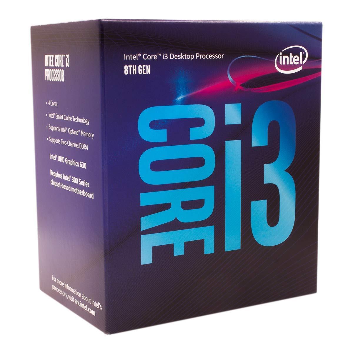 1 CPU - Intel Core i3-8100 Desktop Processor - Best $500 PC Build 2019