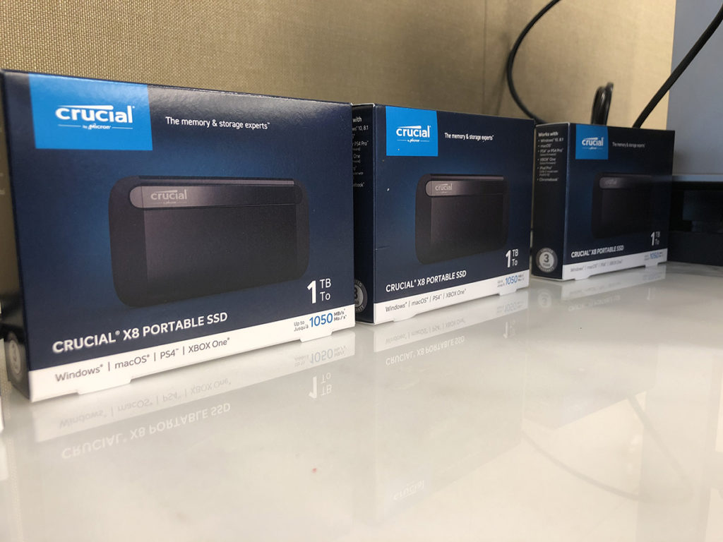 Crucial X8 Portable SSD In Boxes
