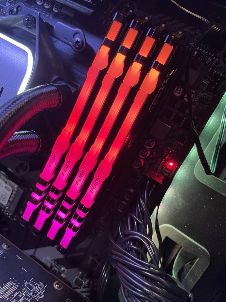 Kingston Fury Beast RGB Red - Newb Computer Build Review