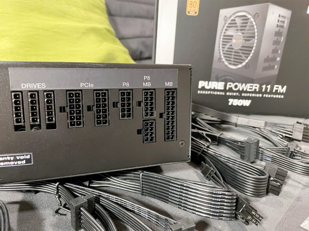 Inputs on enclosure of the be quiet PURE POWER 11 FM 750W Review - Newb Computer Build