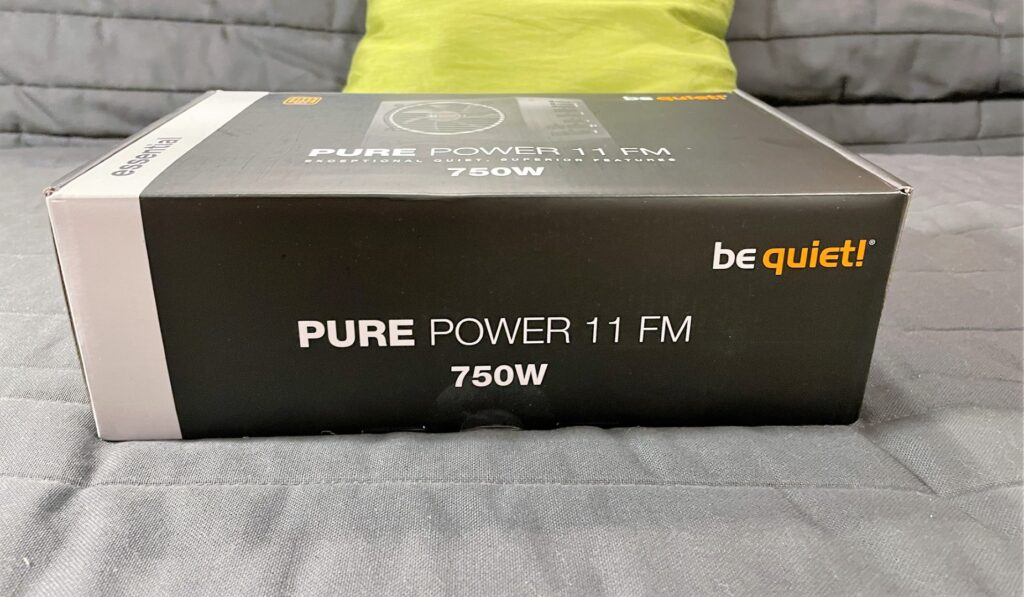 The Box of the be quiet PURE POWER 11 FM 750W - Newb Computer Build